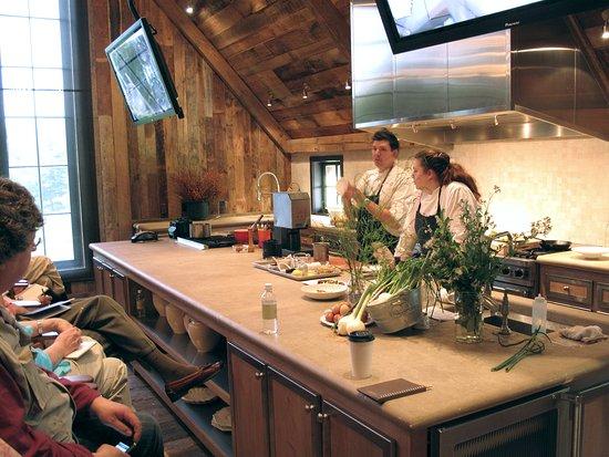 Gambrel Demo Kitchen In The Barn W Blackberry Farm Chefs