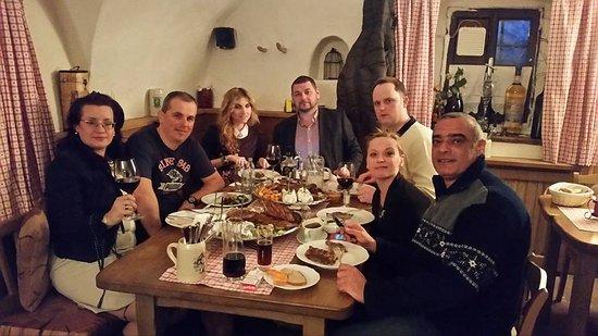 Maishofen, Österrike: Ich und meine Kollege in Stiegerschlossl