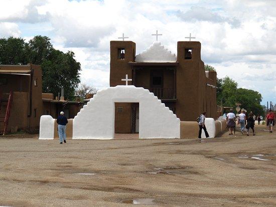Taos Pueblo: St Jerome Church at the Pueblo