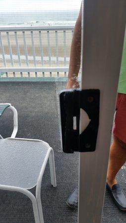 Norseman Resort: Ripped Screen Door/ Blue tape