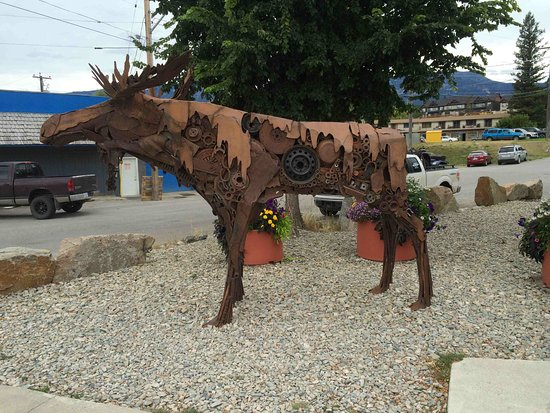 Panorama, Canadá: steampunk moose in Invermere