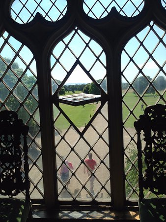 Malahide Castle: View from inside the castle xx