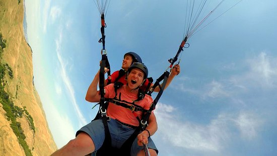 Vallejo, CA: Paragliding can be peaceful or thrilling. You choose