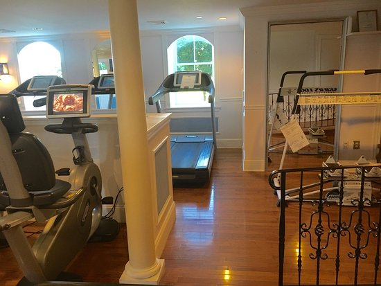 Whitefield, NH: Awesome fitness center (3 rooms): ski machine, cardio equip. w/TV overlooks mountains,  Dumbbell