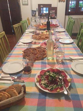 Tenuta Lonciano: Daniele arranged a private chef to prepare a meal for us.