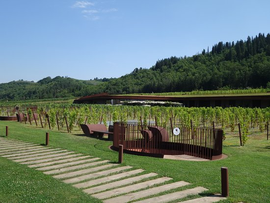 San Casciano in Val di Pesa, Italy: On the restaurant level, above the main part of the building