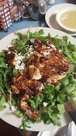 Marlborough, MA: delicious salad with grilled chicken