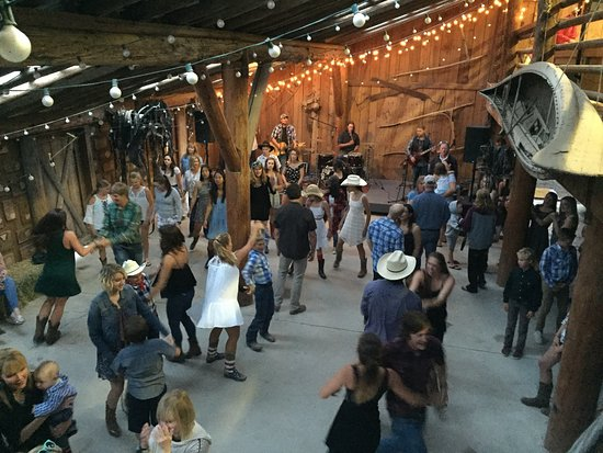 Averill's Flathead Lake Lodge: Barn dance