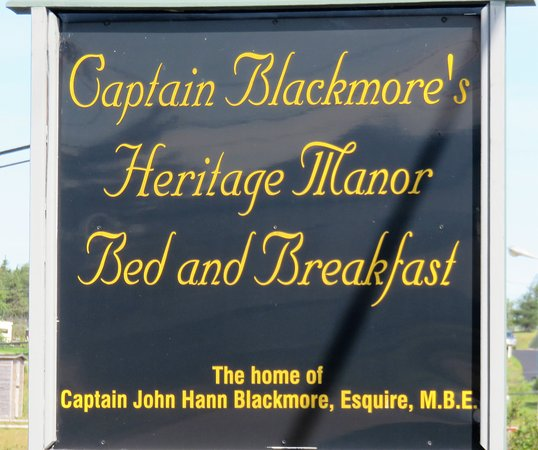 Captain Blackmore's Heritage Manor: Expect to be warmly welcomed