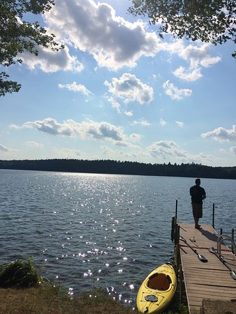 Monmouth, ME: Fishing on the dock