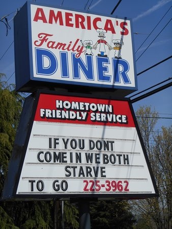 Woodland, WA: A sense of humor? Never a bad sign.
