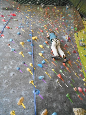 The Source Climbing Center : A long way to the top.