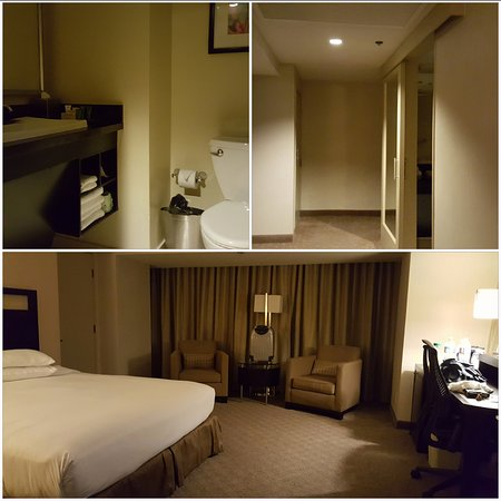Hilton Anaheim: The room I was upgraded to on the 14th floor