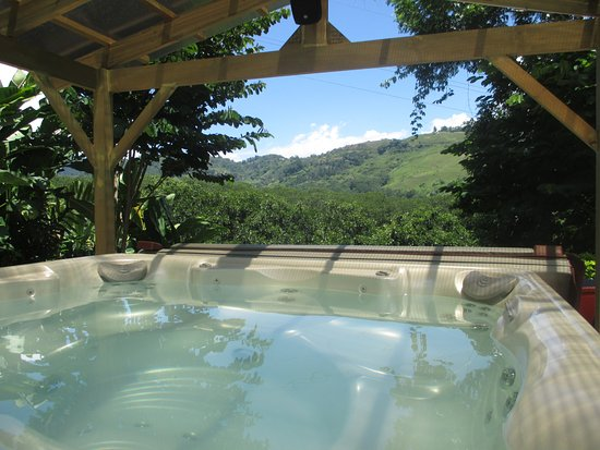 Hydrotherapy jacuzzi is my favorite at Orosi Al Natural Spa!