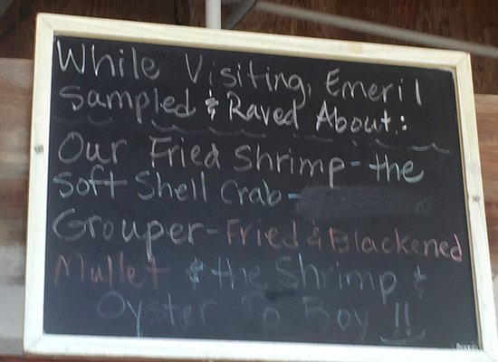 Cortez, FL: They aren't shy about telling you that Emeril visited and raved about their food!