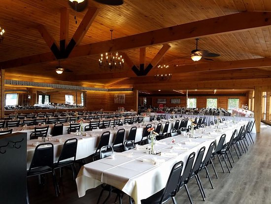Holcombe, WI: Banquet Hall/Dinning room set for a wedding 300 guests.