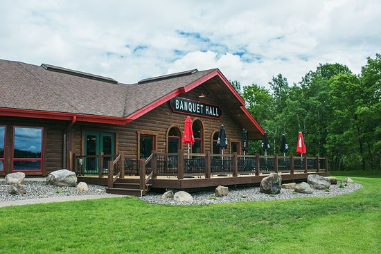 Holcombe, WI: Banquet hall- lake side view