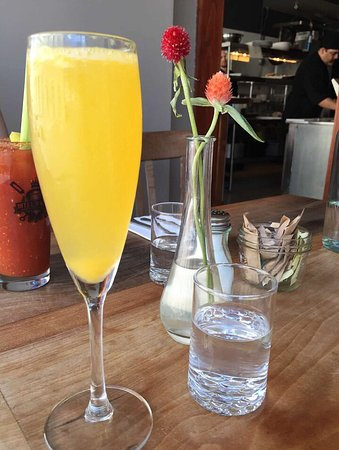 Duo Bistro: Prosecco mimosa and spicy Bloody Mary