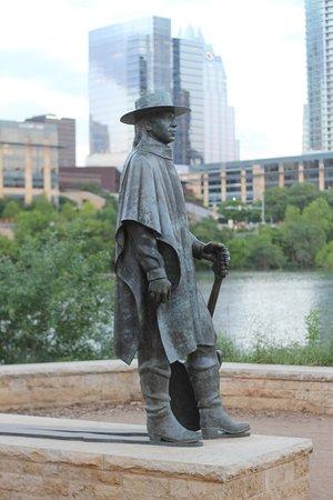 Lady Bird Lake Hike-and-Bike Trail: Stevie Ray Vaughan memorial