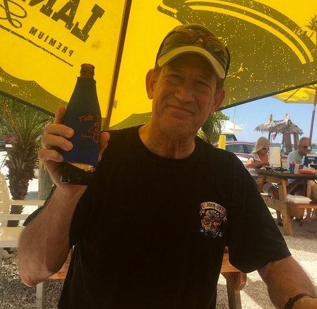 Cortez, FL: My hubby loved that they brought out a sleeve to keep his beer cold