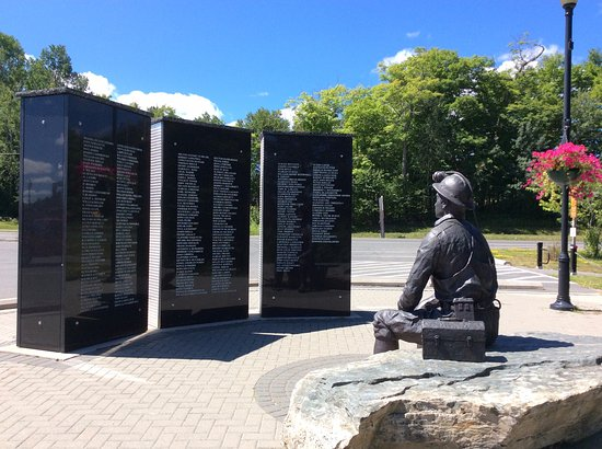 Elliot Lake, Canada: The miner`s lamp serves as a perpetual flame, a tribute to the fallen miners.