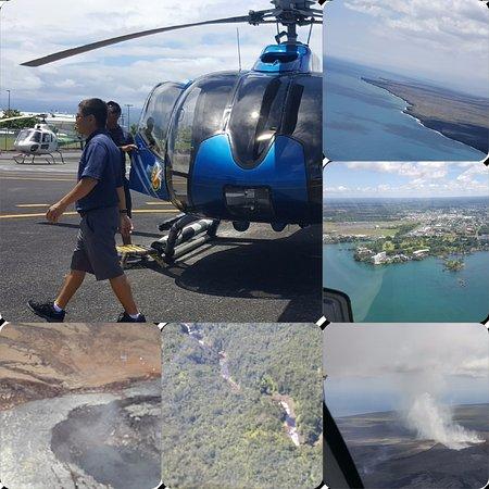 Waikoloa, Hawái: the helicopter and some of the views captured