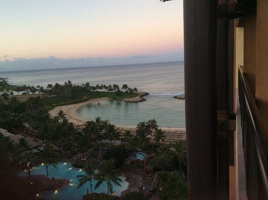 Aulani, a Disney Resort & Spa: This was our first room, we moved to a higher floor nearer the end for a wider view of the ocean