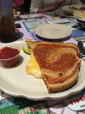 Lima, OH: Grilled cheese sandwich with 4 cheeses