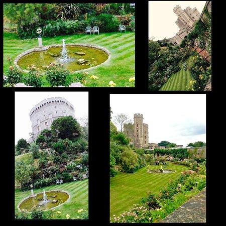 Windsor Castle: Moat Garden views..