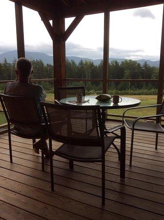 Ripton, VT: screened porch.. Peak perspective