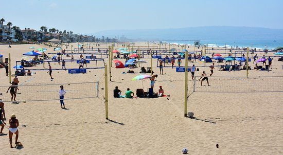Manhattan Beach A Lot Of Volleyball Courts