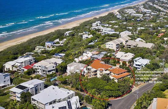 Sunshine Beach, Australia: Aerial view of Parkshores