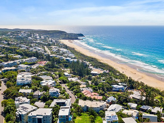 Aerial view of Sunshine Beach