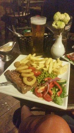 Hartpury, UK: Steak. Go on then