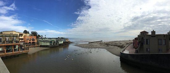Capitola City Beach: From the bridge.