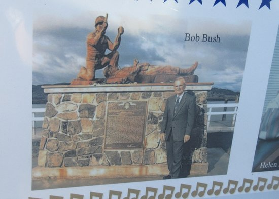 Bob Bush with the Park Memorial, Robert Bush Park, South Bend, Washington
