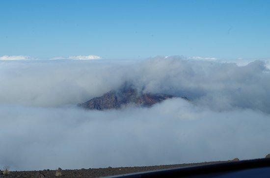 Kula, Hawaï: Top of cloud cover