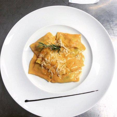 Osteria del Castagno: Crema di peperoni-Chef Keoma-
