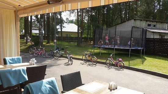 Saulkrasti, Letonia: Bicycle parking