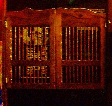 Fairview, OR: saloon doors in entry way