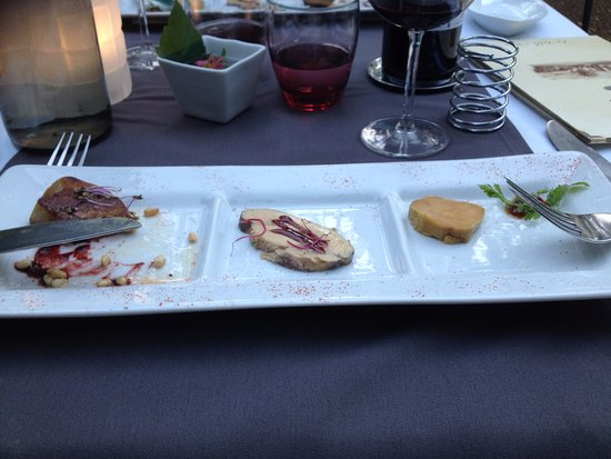 Le Mas Des Carassins Hotel: trio de foie gras !! hummmmm