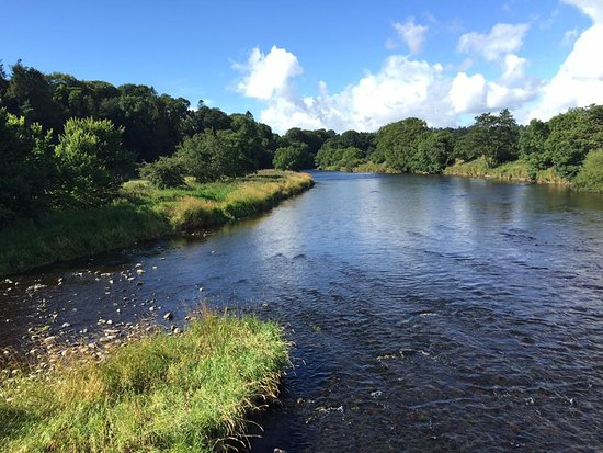 Lockerbie, UK: River Annan near Hoddom Castle