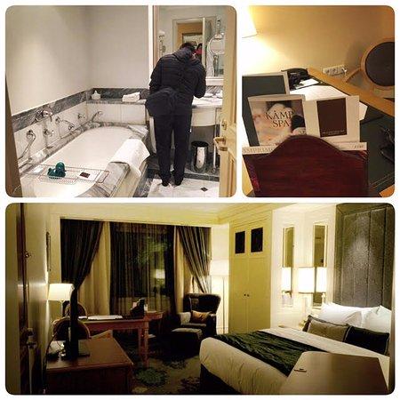 Hotel Kamp: room and bathroom