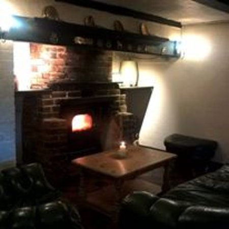 Haywards Heath, UK : Chesterfield by the fire...