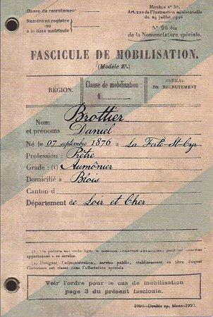 Albert, Frankrike: Carta de movilización de un soldado.