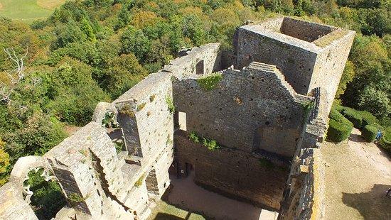 Martailly-les-Brancion, Frankrike: Vue du dessus du Château