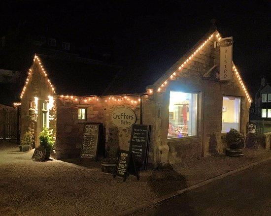 Rosemarkie, UK: Night time at Crofters Bistro