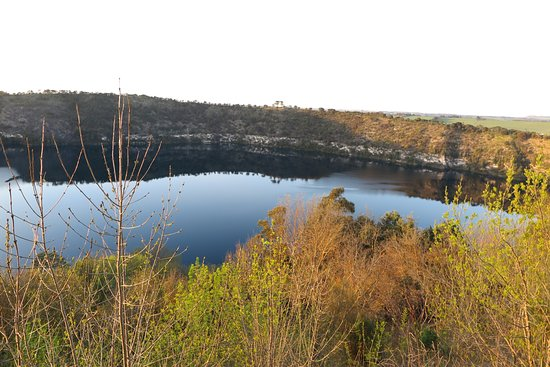 Mount Gambier, Australie : The Blue lake?? not very blue