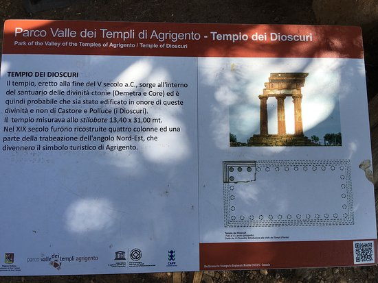 Valley of the Temples (Valle dei Templi): One of the information display