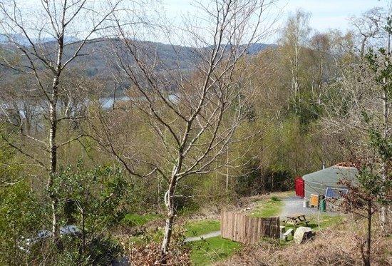 Newby Bridge, UK: 22ft yurt outside